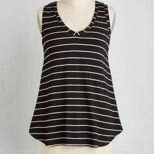 0d7091be03603 Modcloth Tops - Modcloth Infinite Options Top in Black Stripes